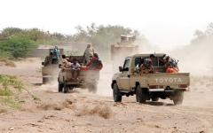 الصورة: القوات المشتركة تصد هجمات حوثية وتؤمّن جنوب مدينة الحديدة
