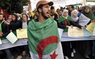 الصورة: الرئيس الجزائري يطالب بوقت لإجراء «التغيير الجذري» في البلاد