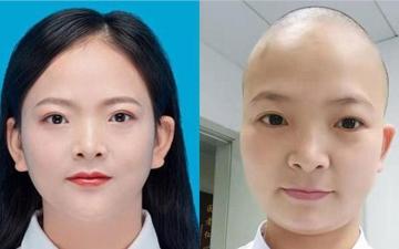 الصورة: بالصور.. حلق شعر ممرضات صينيات قبل إرسالهن إلى بؤرة كورونا