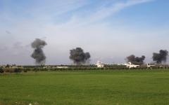 الصورة: معارك عنيفة بين الجيش السوري والفصائل قرب سراقب