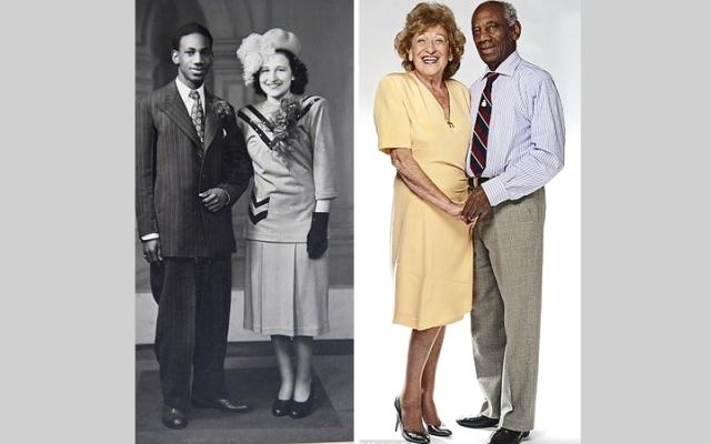 الصورة: بريطانيان من أصول مختلفة مستمران في زواجهما 70 عاماً
