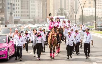 الصورة: «القافلة الوردية»: تفاعل جماهيري لافت مع المسيرة