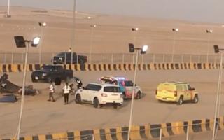 الصورة: بالفيديو.. سائق ينجو من الموت بسباق في أبوظبي