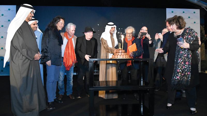 نهيان بن مبارك حضر احتفالية المهرجان بأدونيس. من المصدر