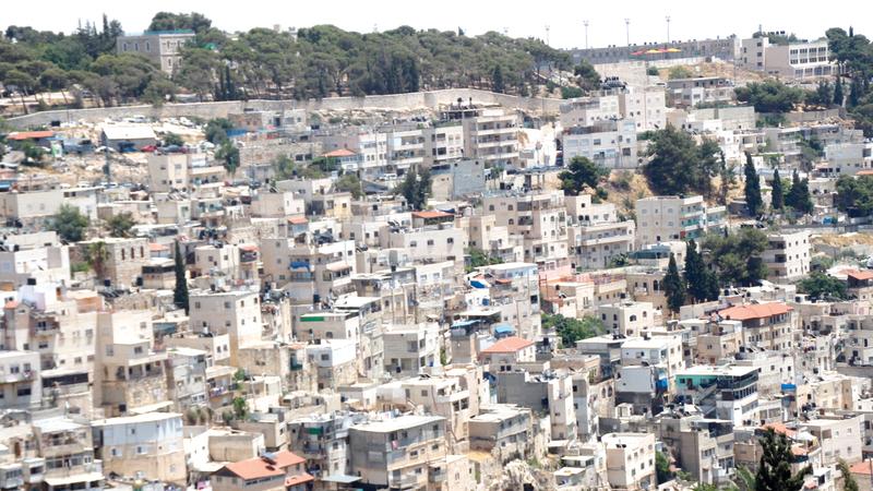حي بطن الهوى في بلدة سلوان جنوب المسجد الأقصى المبارك.   من المصدر