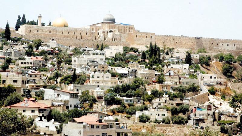 السيطرة على منازل حي بطن الهوى في بلدة سلوان ستحاصر المسجد الأقصى من الناحية الجنوبية.   من المصدر