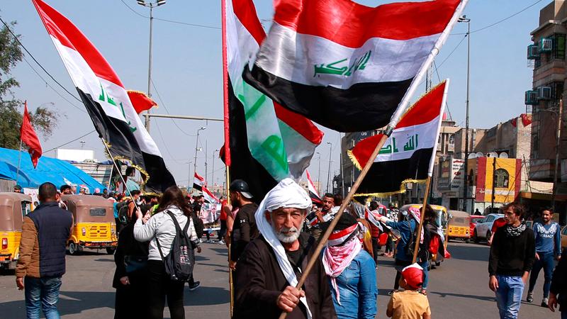 العراقيون فقدوا الثقة بالنخبة السياسية الحاكمة.   أ.ب