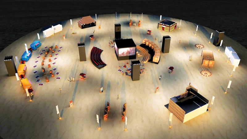 الفعاليات تأتي تحت مظلة موسم دبي الفني في نسخته السابعة. من المصدر