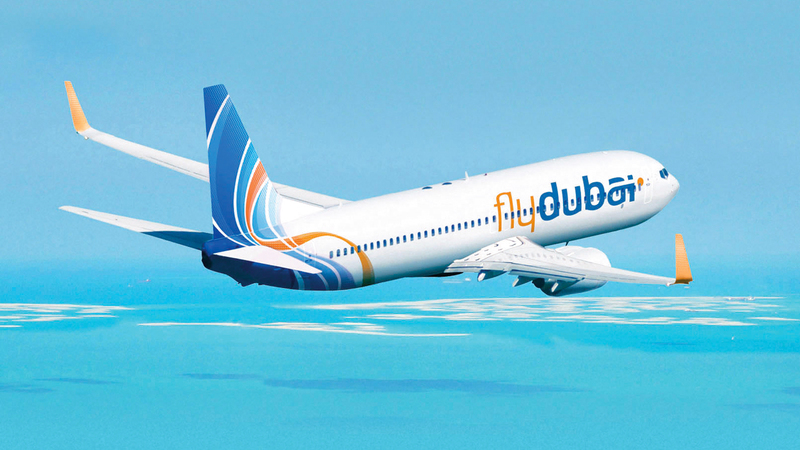 حجم أسطول «فلاي دبي» بلغ 45 طائرة تعمل على شبكة خطوط الناقلة. أرشيفية