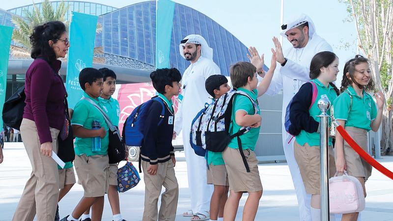 برنامج الأطفال واليافعين استقطب الآلاف من جميع الإمارات. من المصدر