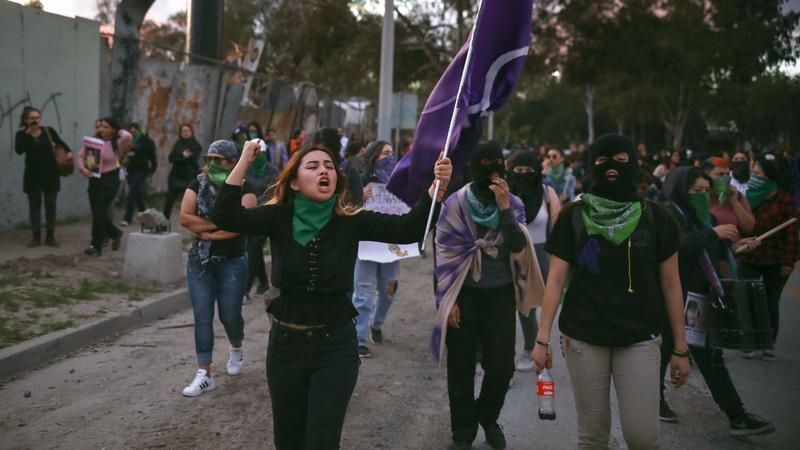 يجد احتجاج النساء الدعم من الحكومة والكثير من جهات العمل. أرشيفية