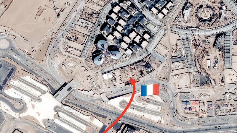 الجناح الفرنسي يقع في منطقة التنقل. من المصدر