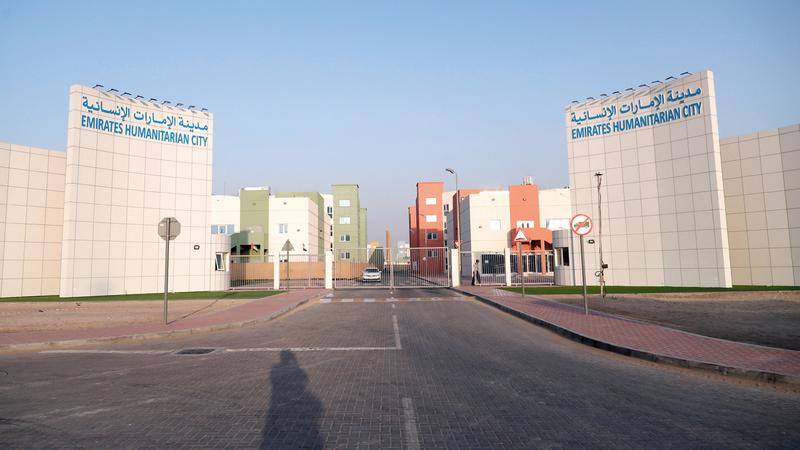 تجهيز مدينة الإمارات الإنسانية وفق أرقى المعايير التي توفر وسائل الترفيه للأطفال والكبار.  وام