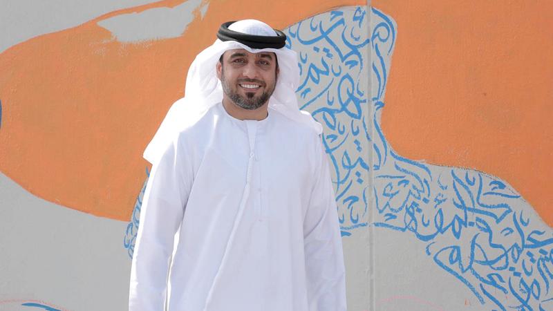 التميمي يطمح إلى بلوغ مراتب عليا في إتقان فنون الخط. الإمارات اليوم