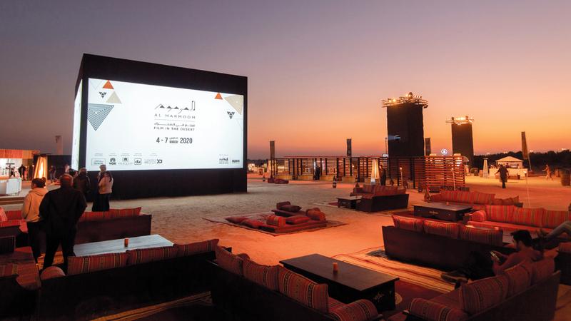 المهرجان يهدف إلى دعم قطاع الأفلام الناشئة في دبي. ■تصوير: أحمد عرديتي