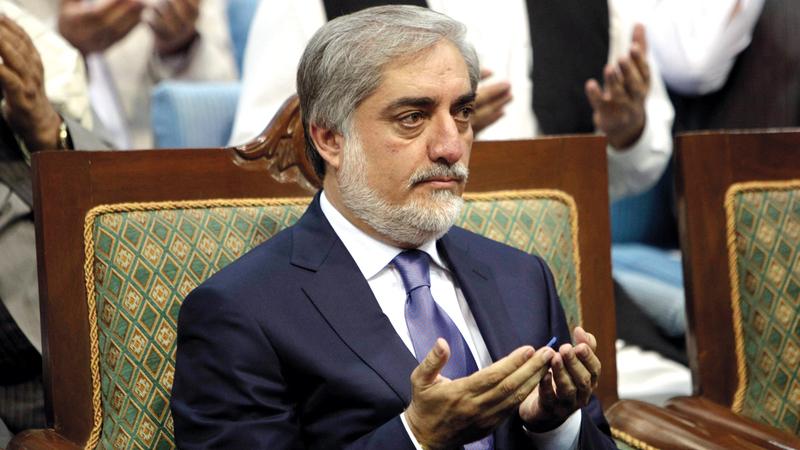 عبدالله أعلن رفضه نتيجة الانتخابات وقرر إنشاء حكومة خاصة به. أرشيفية