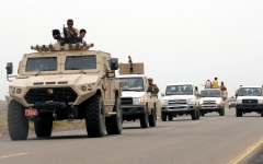 الصورة: الجيش اليمني يحرر التبة الحمراء في هيلان مأرب