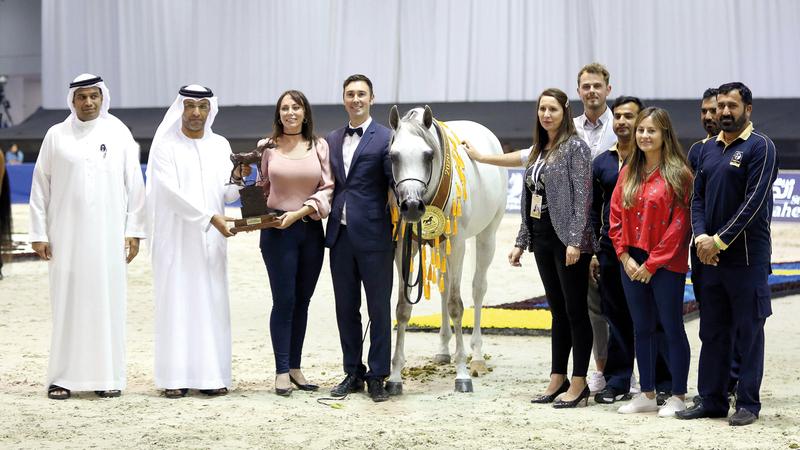 جوائز بطولة دبي الدولية للجواد العربي بلغت أربعة ملايين دولار. من المصدر