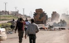 الصورة: سورية تتهم تركيا بقصف قرية في ريف الحسكة بالمدفعية