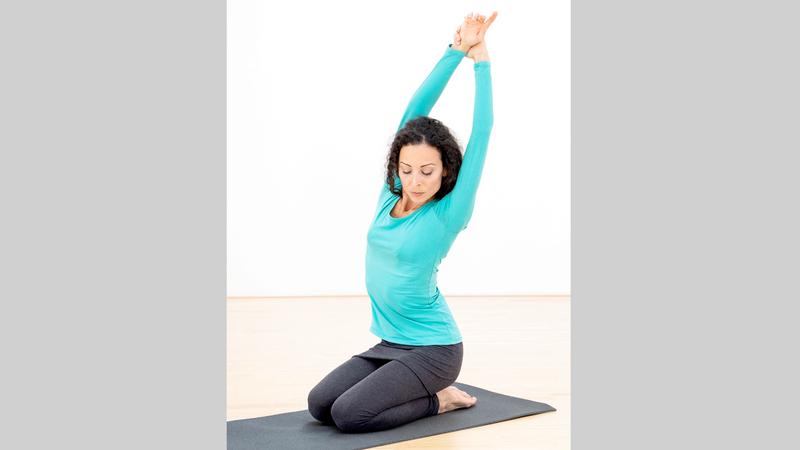 اليوغا مثالية لاسترخاء الجسم والعقل. د.ب.أ