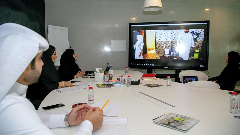 اللجنة الشبابية للتحكيم استعرضت الأفلام المشاركة. من المصدر