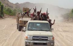 الصورة: الجيش اليمني يحرّر 10 مواقع في جبهات مأرب والبيضاء