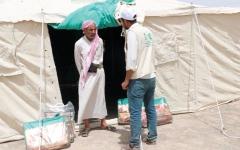 الصورة: مساعدات من «مركز الملك سلمان» لمأرب