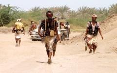 الصورة: الجيش اليمني يسيطر على تباب وجبال في جبهة قانية بالبيضاء