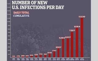 الصورة: منظمة الصحة العالمية قلقة.. أكثر من 53 ألف إصابة في أميركا ووفيات تجاوزت الـ700