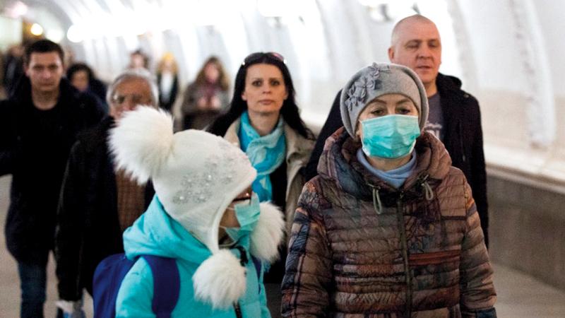 عدد كبير من سكان موسكو يخضعون للرقابة بالكاميرات.  أ.ف.ب