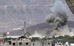 الصورة: تدمير مرابض للطائرات المسيرة في صعدة