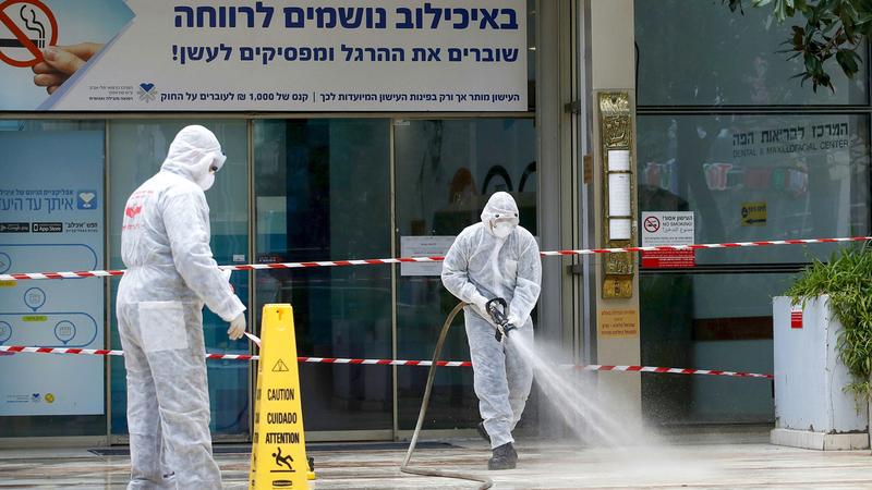 إسرائيل أقامت مركزاً علاجياً خاصاً بالفيروس في تل أبيب.  من المصدر