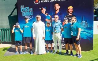 الصورة: المرزوقي: تجربة «جامعي الكرات» تهدف إلى زيادة عدد ممارسي التنس
