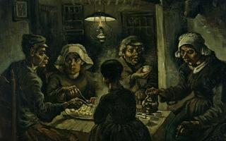 """الصورة: في ذكرى ميلاده.. تعرف إلى لوحة """"آكلوا البطاطا"""" لـ فان غوخ"""