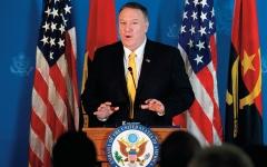 الصورة: بومبيو: أميركا قد تعيد النظر في عقوبات إيران