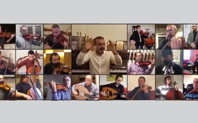 """الصورة: بالفيديو: الأوركسترا الوطنية اللبنانية تتحدى """"كورونا"""" بالعزف من البيوت"""