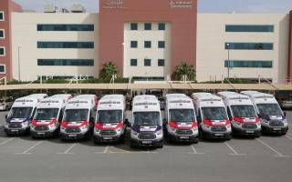 50 سيارة إسعاف من الحبتور لإسعاف دبي