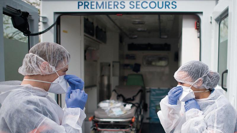 استعدادات لرعاية المصابين في فرنسا. أ. ف. ب