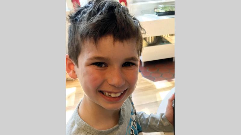 الطفل جيديون الذي لايزال مفقوداً. أ.ف.ب