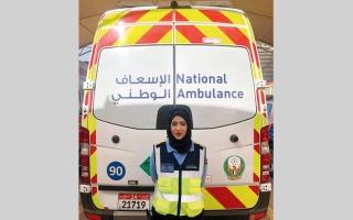 مسعفة مواطنة تنقذ امرأة من ولادة طارئة داخل سيارة