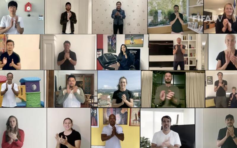 """الصورة: بالفيديو: رسالة """"فيفا"""" للعالم.. من يستحق التصفيق هم نجوم آخرين"""
