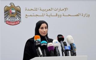 """الصورة: الإحاطة الإعلامية لحكومة الإمارات حول آخر مستجدات """"كورونا"""""""