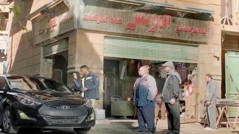 في الحلقة الأولى من مسلسل محمد رمضان السيارة دخلت الورشة بماركة وخرجت بأخرى. ■أرشيفية