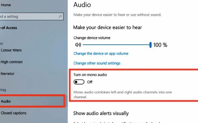 الصورة: تحويل الصوت إلى قناة واحدة في «ويندوز 10»
