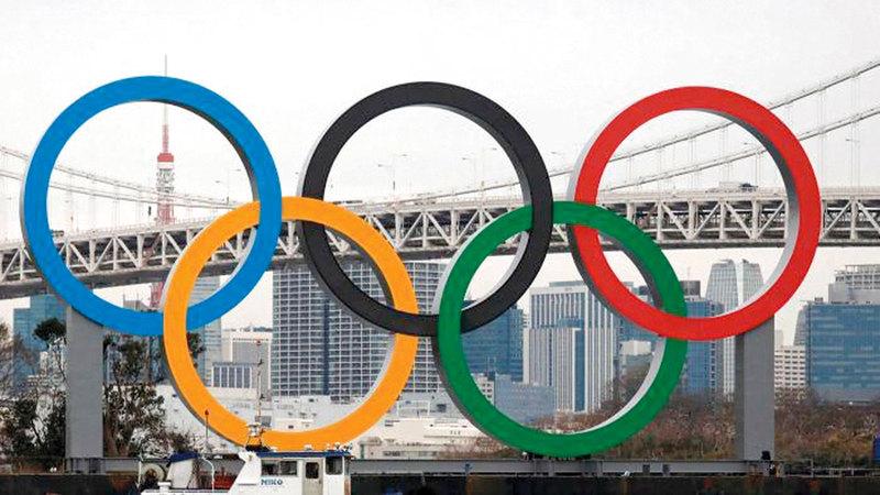 الدورة الأولمبية «طوكيو 2020» تأجلت إلى العام المقبل.   أ.ف.ب