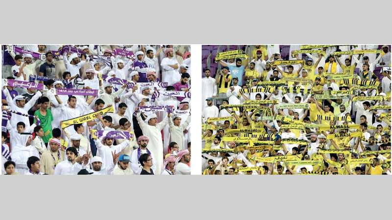 أنصار نادي الوصل وعشاق العين على موعد مع تحدٍّ جماهيري جديد. الإمارات اليوم