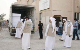 الصورة: 230 ألف وجبة توزعها «اقتصادية عجمان» و«بيت الخير» خلال رمضان