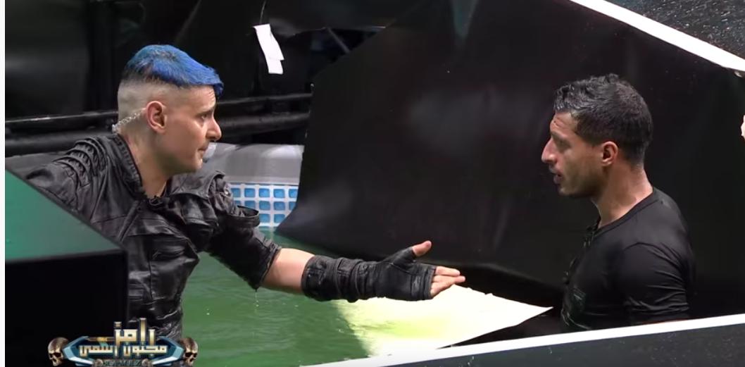 رامز جلال يحاول تهدئه طارق حامد