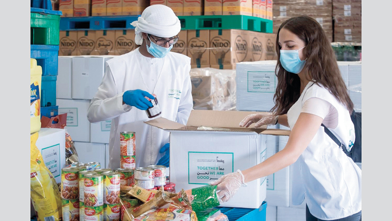 «الهيئة» توزّع 450 ألف وجبة يومياً. من المصدر