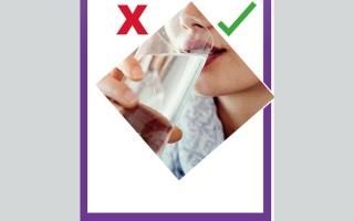 الصورة: صح- خطأ.. هل شرب الماء يسبب بروز البطن